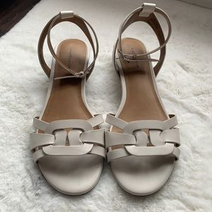 14th & Union white white leather sandals size 7